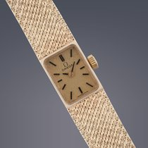 Omega ladies 9ct yellow gold manual watch BOX AND PAPERS