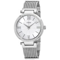 Guess Ladies U0638l1 Sophisticated Silver-tone Watch With...