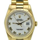 Rolex Day Date Presidential Men's 18k White Roman Dial