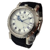 Breguet 5847BB/12/5ZV Marine Royale in White Gold - White Gold...