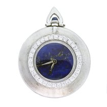 Cartier Pocket Watch 18K  Gold, Lapis Lazuli Dial