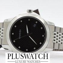 Gucci G-Timeless Diamond black dial YA126405