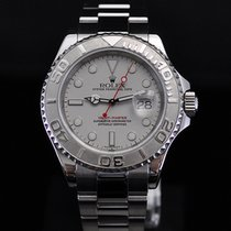 Rolex Yachtmaster 40mm Steel with Platinum Bezel and Dial