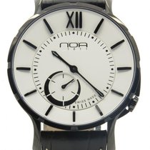 N.O.A Noa Slim Watch 18.60 Mslq-004 White Dial Black Case 40mm...
