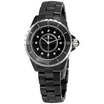 Chanel H1625 Black Ceramic Diamonds Ladies Watch
