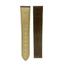 Rolex Omega-brown Crocodile Leather Deployment Buckle Strap