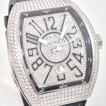 Franck Muller Vanguard Iced Out Diamonds Full Pave Dial