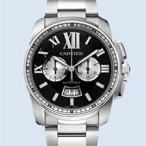 Cartier Calibre de Cartier Chronograph Stahl schwarz -NEU-