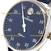 Meistersinger Salthora 40mm Blue Sunburst Dial - SH 908