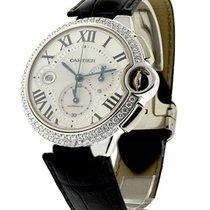 Cartier WE902002 Ballon Bleu Chronograph with Diamond Bezel -...