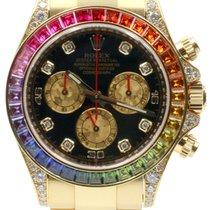 Rolex Cosmograph Daytona 116598 116598-RBOW Black Diamond...
