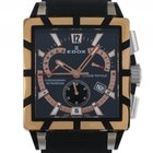 Edox Classe Royale Chronograph Retrograde Gelbgold Kautschuk...