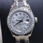 Rolex Ladies 18K WG Pearlmaster Original Diamond Dial &...