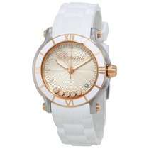 Chopard Happy Sport Silvertone Guilloche Dial Ladies Watch