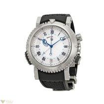 Breguet Marine Alarm 18K White Gold Rubber Men`s Watch