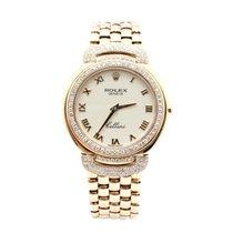 Rolex 18k Yellow Gold & Factory Diamond Rolex Cellini Watch