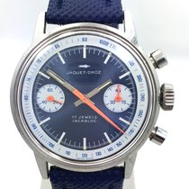 Jaquet-Droz Manual Wind Chronograph circa 1960 Valjoux 7733