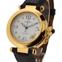 Cartier WJ11891G 32mm Yellow Gold Pasha - Yellow Gold on Strap...