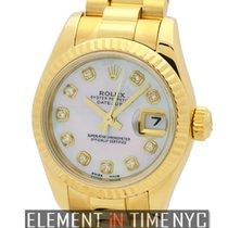 Rolex Datejust President 26mm 18k Yellow Gold MOP Diamond Dial...