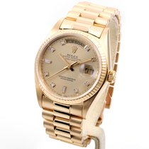 Rolex 18k Yellow Gold President Factory 8+2 Diamond Dial