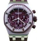 Audemars Piguet Royal Oak Offshore Ladies Purple Plum Diamond...