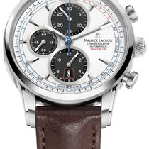 Maurice Lacroix Pontos Chronographe Retro White Dial And Black...