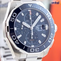 TAG Heuer Men's Aquaracer 300M Steel on Steel Chrono Watch...