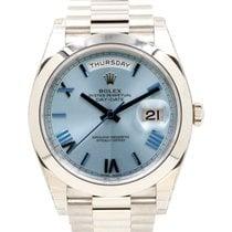 Rolex Day-Date 40 228206-BLURP Ice Blue Quadrant Motif Roman...