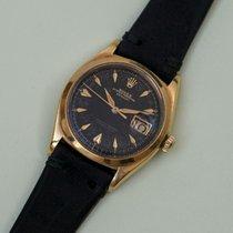 Rolex ELEGANT DATEJUST REF 6604 YELLOW GOLD 18K BLACK GILT DIAL