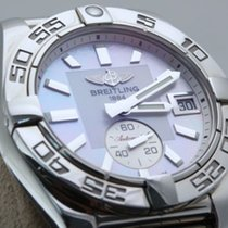 Breitling Galactic 36 Automatic A37330 Mother Of Pearl Dial Steel