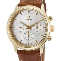 Omega 18 k Yellow Gold De Ville 4640.31.02 Automatic Chrono Swiss