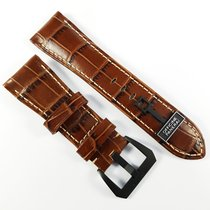 Panerai 26 / 22 mm Alligator leather strap brown Panerai buckle