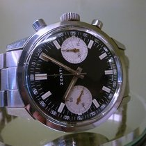 Zenith vintage STEEL chronograph cal 1460 panda dial NEW OLD...