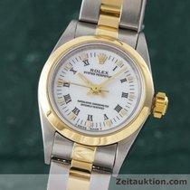 Rolex Lady Oyster Perpetual Damenuhr Stahl Gold Automatik Ref...