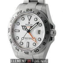 Rolex Explorer II Stainless Steel 42mm White Dial Scrambled...
