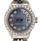Rolex Stainless Steel Datejust Watch W/tahitian Mop Diamonds 6916