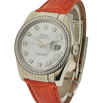 Rolex Used 116189 Datejust 36mm White Gold on Strap - with...