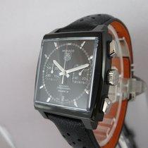 TAG Heuer Monaco Black Steel Chronograph 39mm - NEU