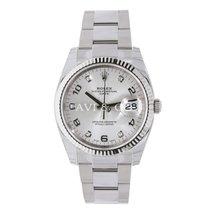 Rolex Date 34 Stainless Steel Silver Diamond Dial UNWORN 2016