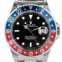 Rolex GMT Master II Pepsi blau rot Stahl Automatik Armband...
