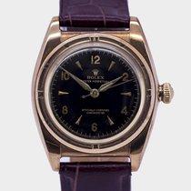 Rolex Rare Bubbleback Rose gold + Steel / 32 mm / Serviced / 1946