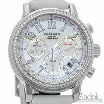 Chopard Mille Miglia White MOP Dial Chronograph Watch Diamond...