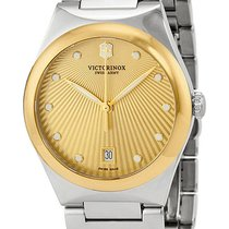 Victorinox Swiss Army Victoria Gold Tone Steel Womens Watch...