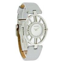 Valentino Diamond Vanity Ladies Silver Leather Quartz Watch...