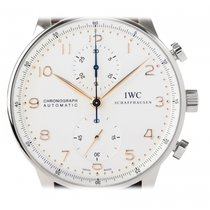 IWC Portugieser Chronograph  Silver  Dial Automatic IW371445...