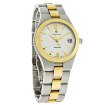 Concord Mariner Series Mens White Date Dial 18K 2Tone Watch...