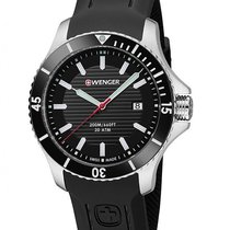 Wenger Sea Force Mens Dive Watch - Black Dial & Silicone...
