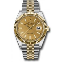 Rolex Stainless Steel & 18K Gold 41mm Datejust Model...