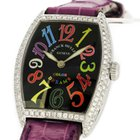 Franck Muller 18K White Gold Color Dream 7502QZ Custom Diamond...