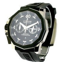 Corum Admirals Cup Chronograph in Black PVD Coated Steel Left...